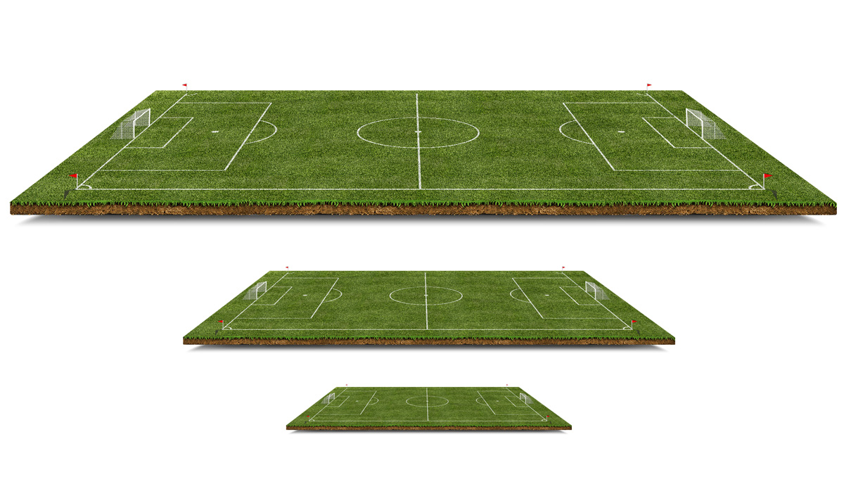 3D Football Pitch PSD