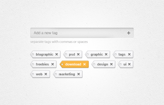Add Tags Widget Psd