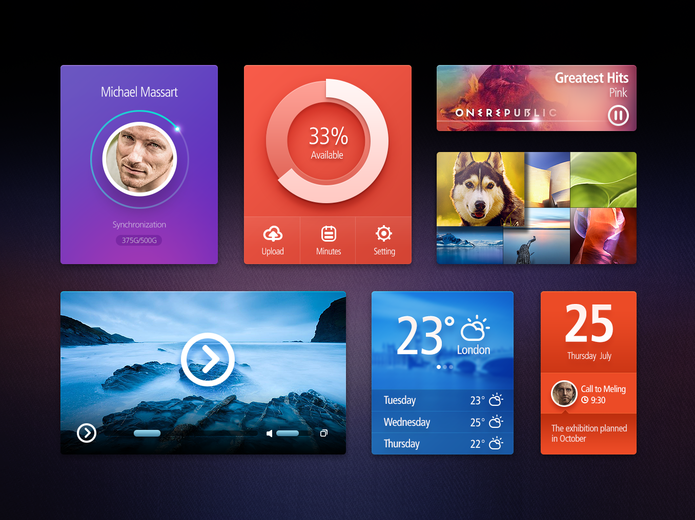 Amazing User Interface Kit Free PSD