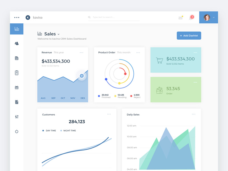 Analytics Dashboard UI Template Free PSD