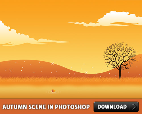 Autumn Scene In Photoshop