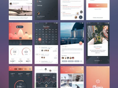 Beautiful IOS App UI Screens Free PSD