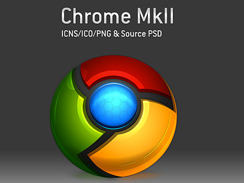 Google Chrome Icon PSD