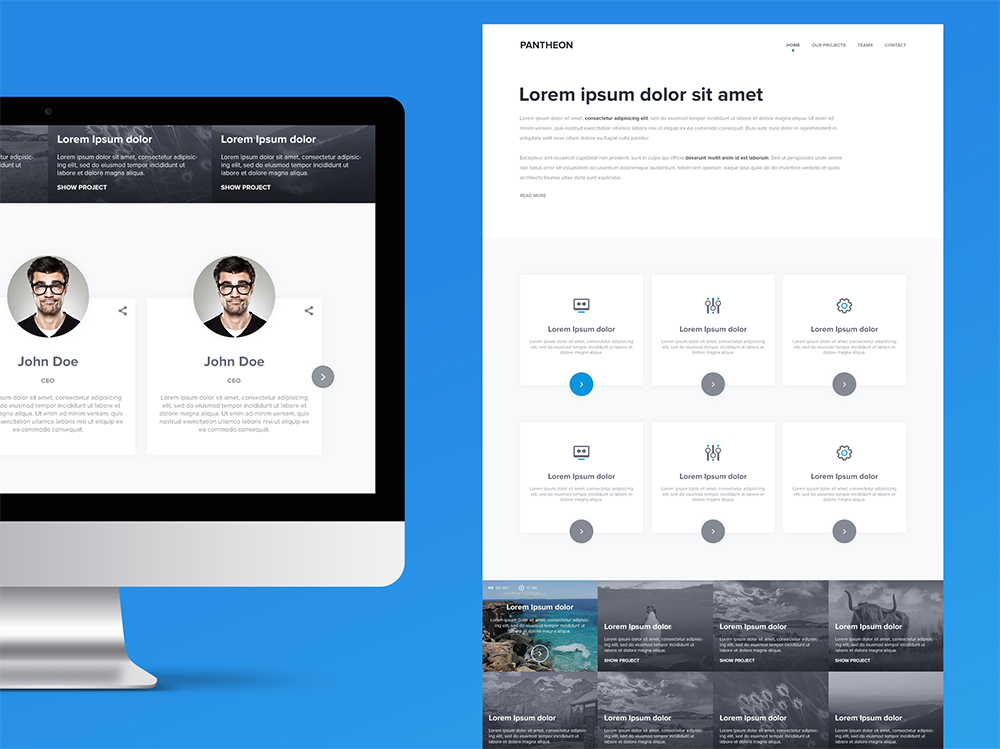 Clean Multipurpose Website Template PSD