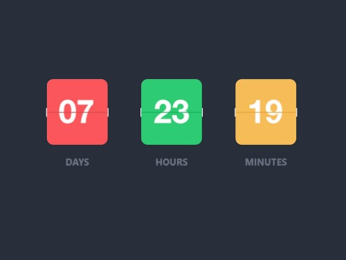 Colorful Flip Counter Free PSD