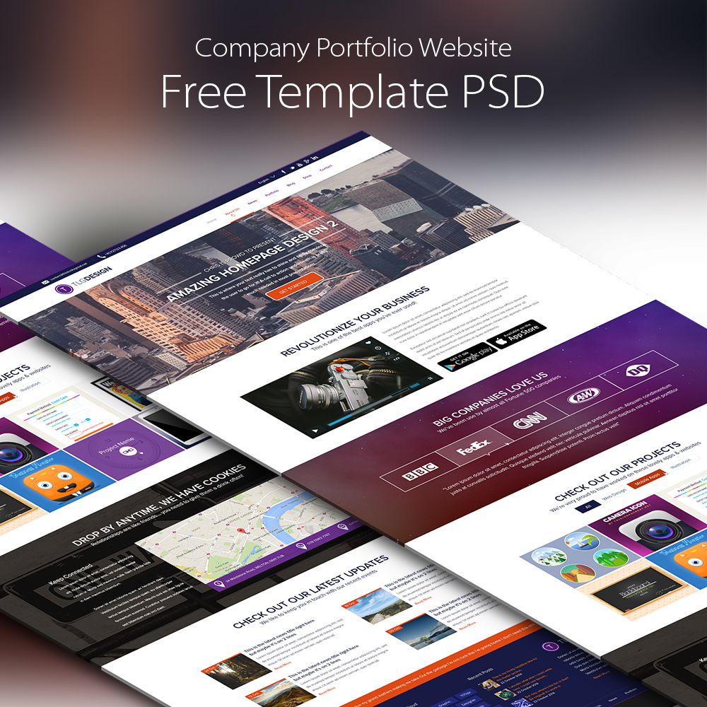 Company portfolio website template free psd at downloadfreepsd company portfolio website template free psd wajeb