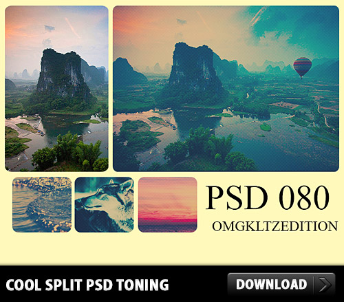Cool Split Toning PSD