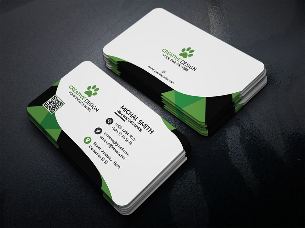 Business card template psd at downloadfreepsdcom for Business cards templates download