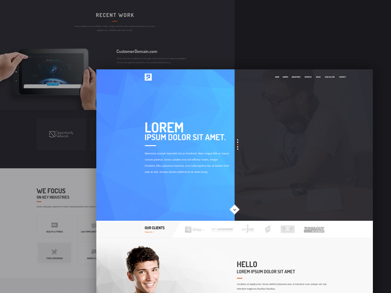 Creative Digital Agency Free Website Template PSD Thumb