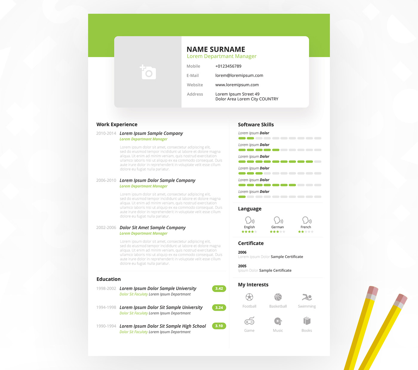 Creative Resume Template PSD
