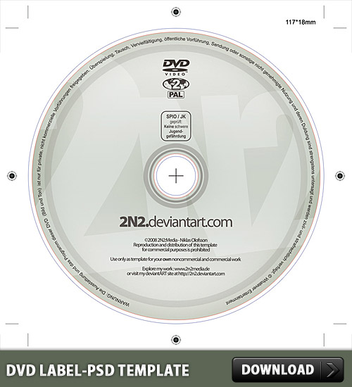DVD Label PSD Template L