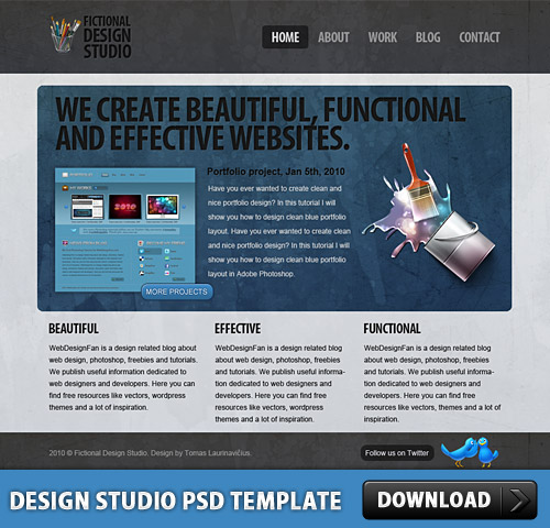 Design Studio PSD Template L