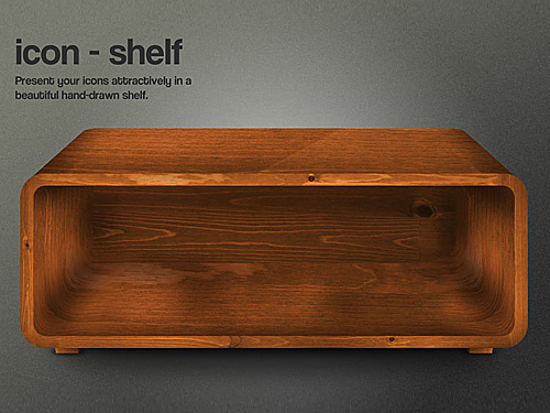 Free Icon Shelf PSD