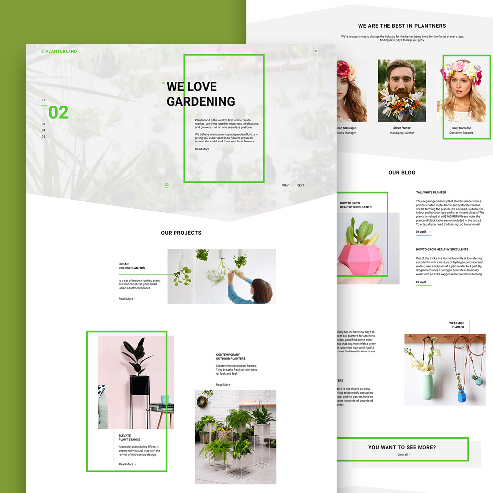 Gardening and Exterior Design Website Free PSD Template