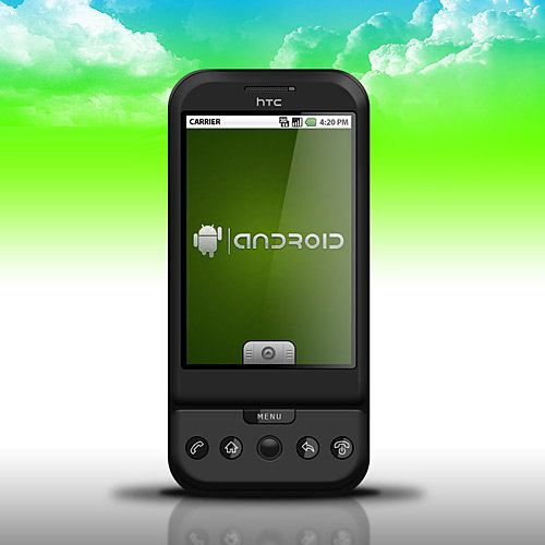 HTC G1 Dream Smartphone PSD