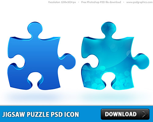 Jigsaw Puzzle PSD Icon L