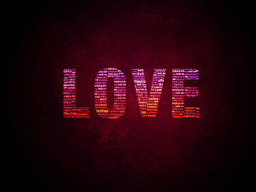 Love Wallpaper PSD L
