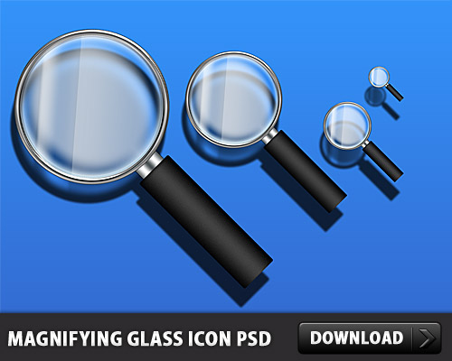 Magnifying Glass Icon PSD L