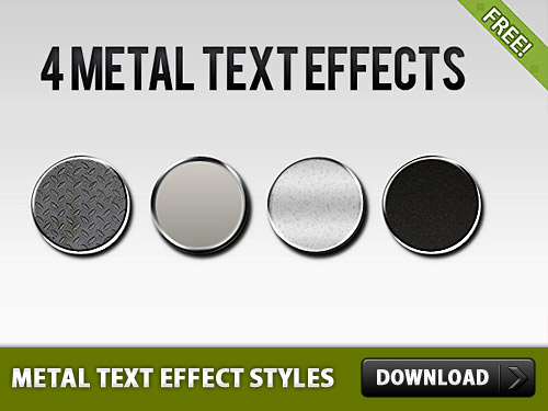Metal Text Effect Styles L
