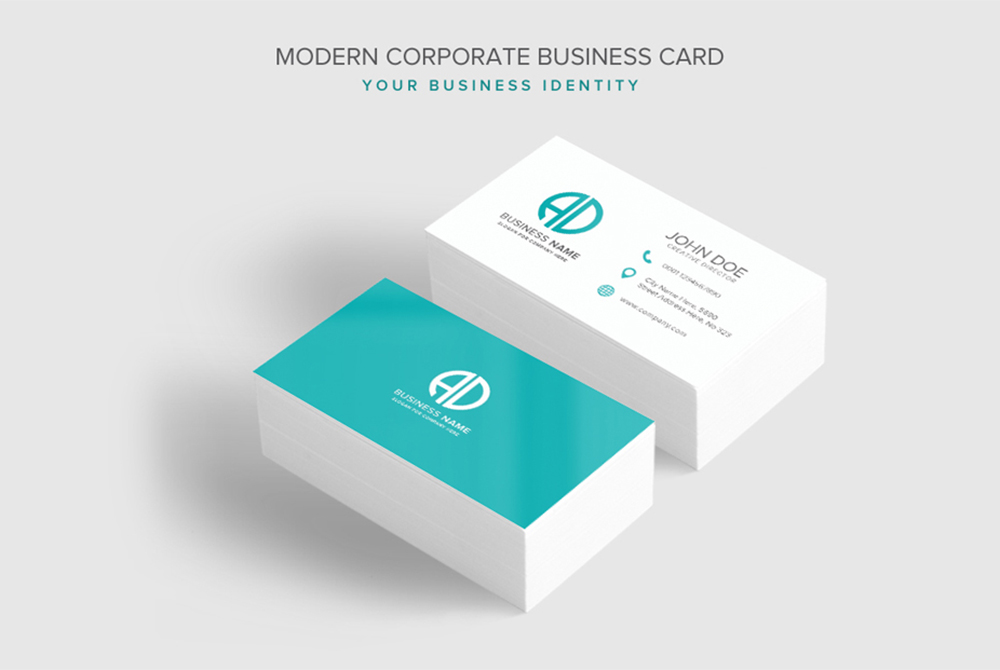Business card template psd at downloadfreepsdcom for Business cards psd templates