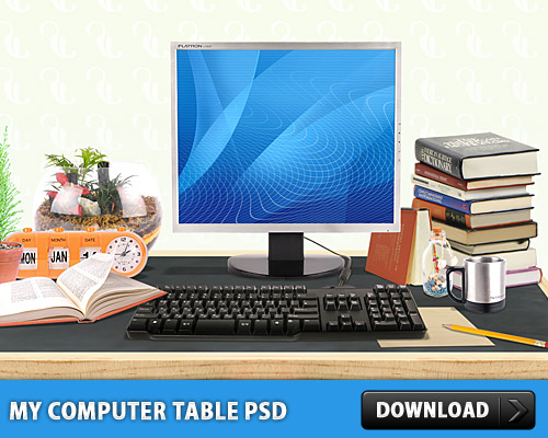 My Computer Table Free PSD