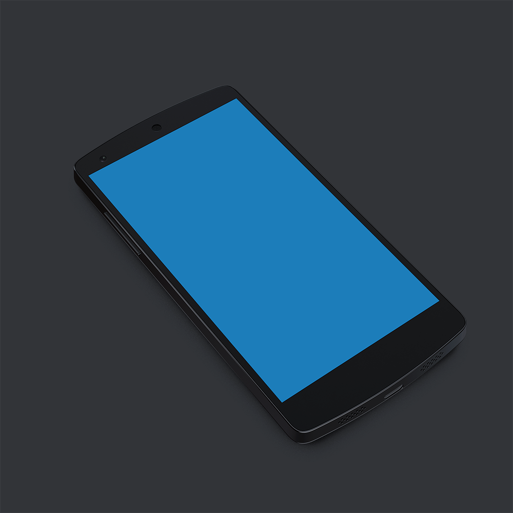 Nexus 5 Black Mobile Handset PSD
