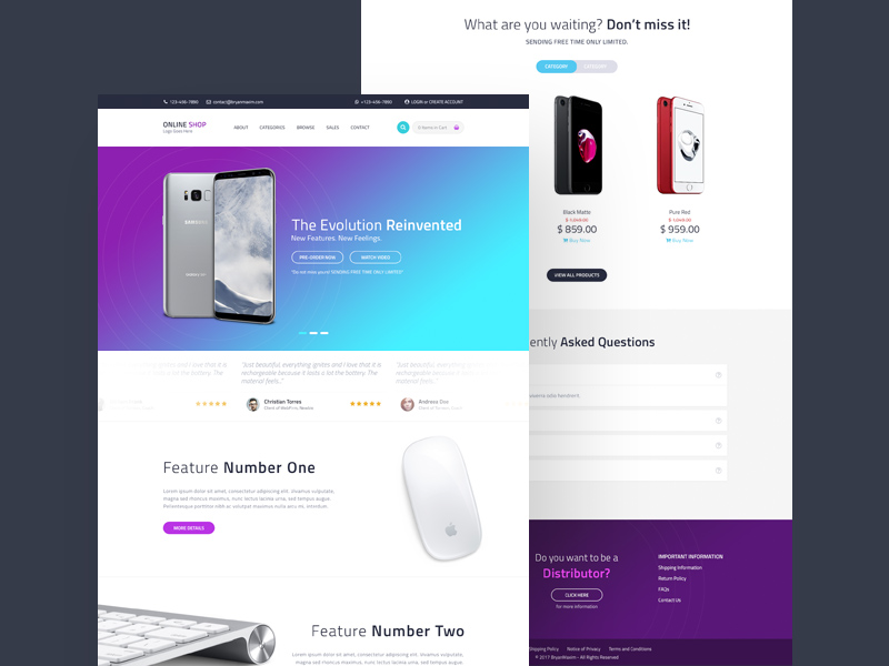 online shopping website template free psd at downloadfreepsd com