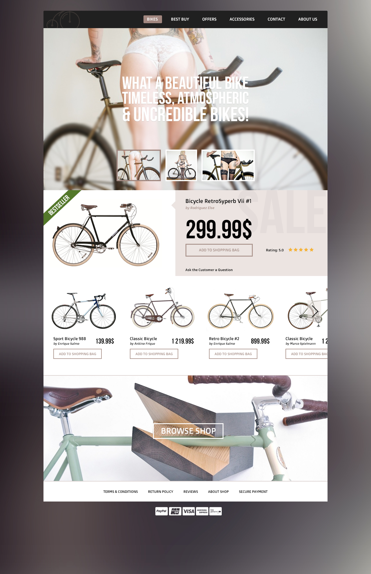 PSD Template for Bike Store