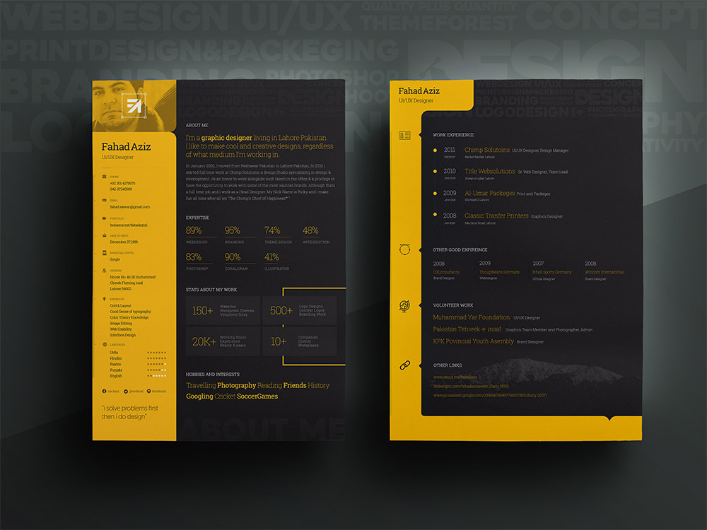 personal resume template free psd at downloadfreepsd com