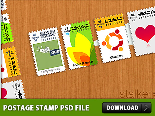 Postage Stamp Free PSD File