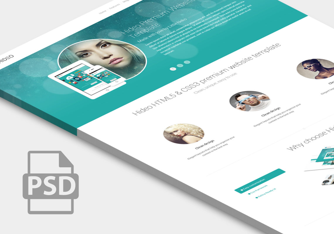 Premium Website Home Page Template Psd At Downloadfreepsd