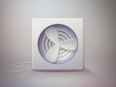 Propeller Fan Icon PSD Freebie