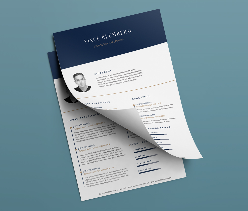 Resume Cover Letter Free PSD Templates