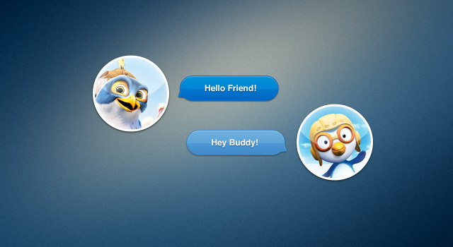 Shinny Chat UI element Free PSD