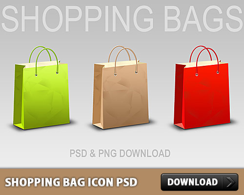 Shopping Bag Icon PSD L
