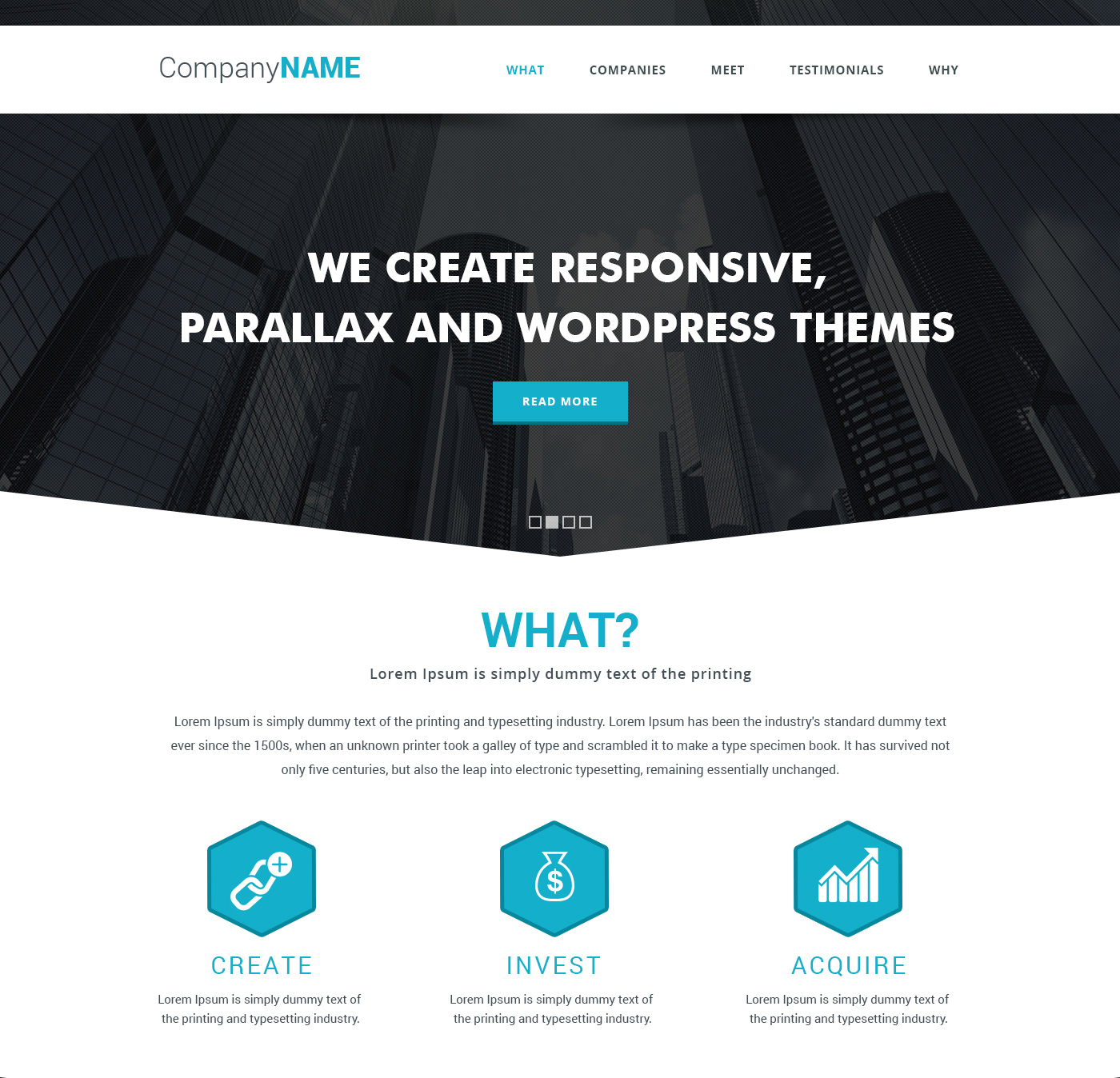 Simple Parallax Website Template Free PSD at DownloadFreePSD.com