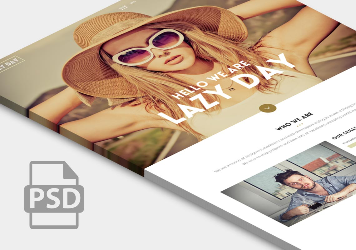Single Page Website PSD Design Template