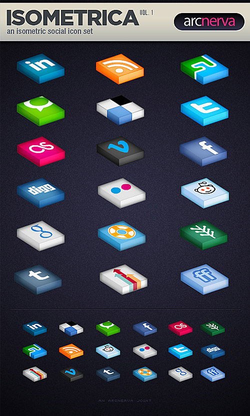 Social Media Icon Set PSD L