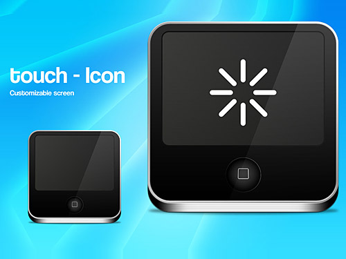 Touch Screen Icon PSD L