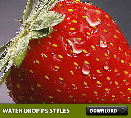 Water Drop Free Photoshop Styles