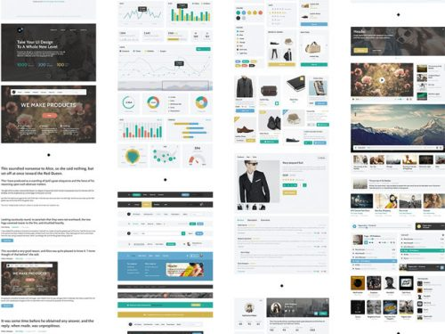 Web User Interface UI Kit Free PSD