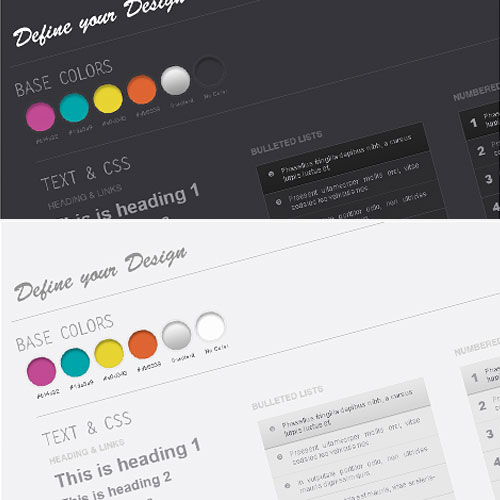 WebDesign Wireframe Kit L