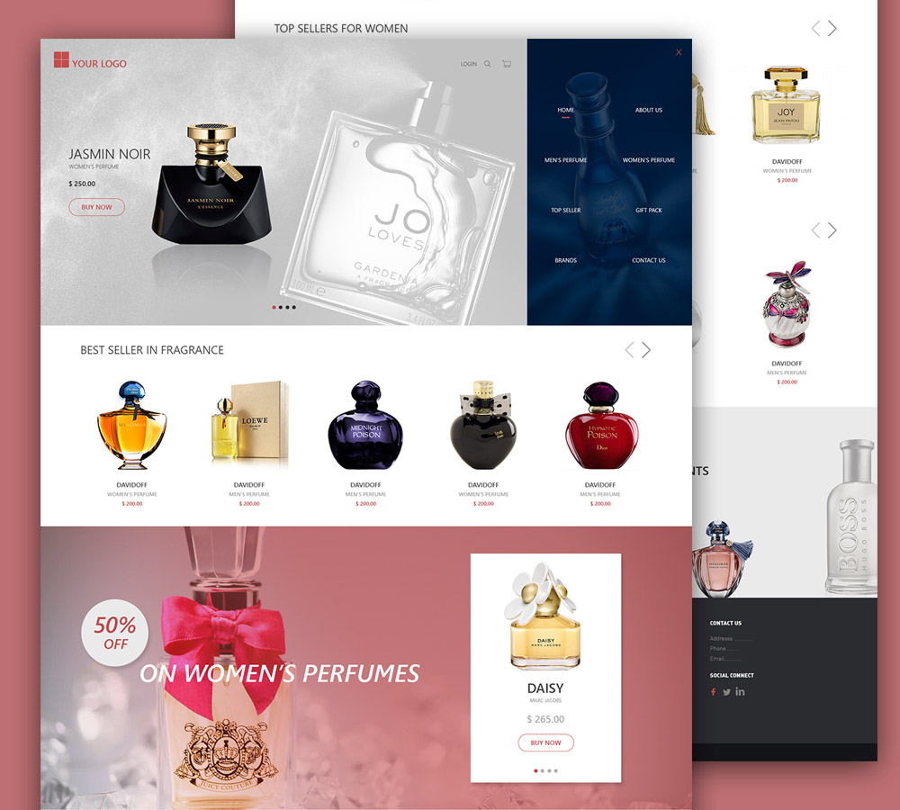 ECommerce Perfume Shop Free PSD Template