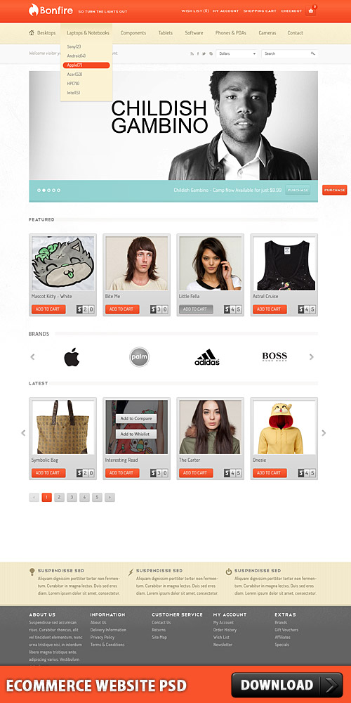 ECommerce Website PSD L