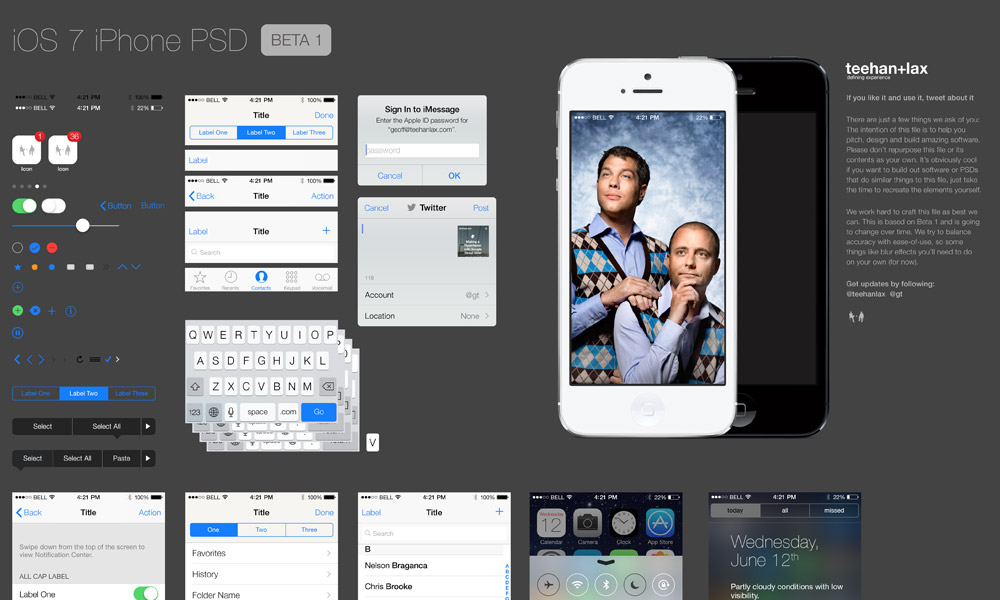 IOS 7 IPhone GUI PSD File