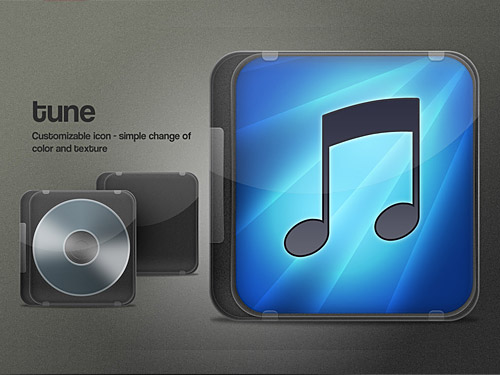 ITunes Cover Icon PSD L