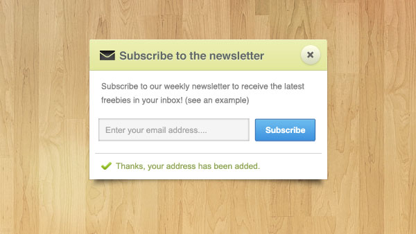 Newsletter Note Free PSD File
