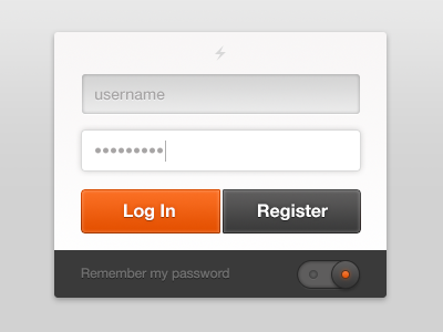 User Login Free PSD File